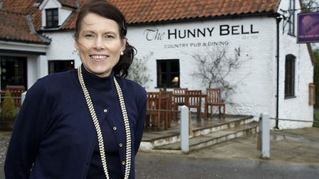 Penny Chapman, owner of The Hunny Bell pub in Hunworth - Pub of the week.Picture: MARK BULLIMORE