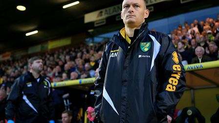 Norwich City manager Alex Neil surveys the situation at Carrow Road ahead of Middlesbrough's visit.