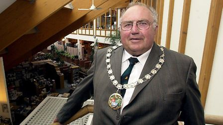 Cyril Durrant during his last spell as chairman of North Norfolk District Council in 2003. Picture: