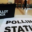 File photo dated 06/05/10 of the polling station at Market Hall in Swadlincote, Derbyshire. PRESS AS
