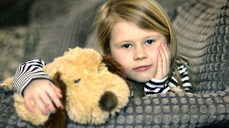 Lacey Taylor, 6, who is allergic to dogs.Picture: ANTONY KELLY
