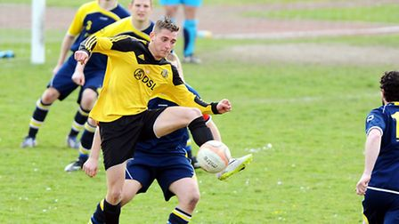 Action from Great Yarmouth shock 3-0 home defeat to Debenham last weekend. Picture: James Bass