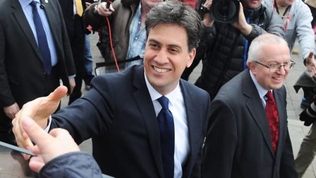 Labour Leader Ed Miliband in Ipswich.