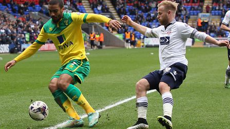Norwich striker Lewis Grabban is battling to be in contention for Middlesbrough's Carrow Road visit