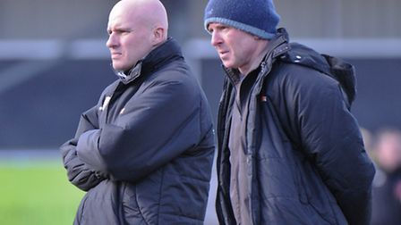 Ady Gallagher (left) & Micky Chapman, joint managers of Lowestoft Town.