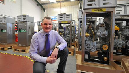 Andrew Olive at Pumptronics in North Walsham. Photo: Bill Smith