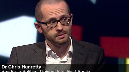 Chris Hanretty, University of East Anglia academic who will be routinely appearing on Newsnight in t