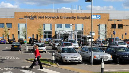 The Norfolk and Norwich University Hospital at Colney.