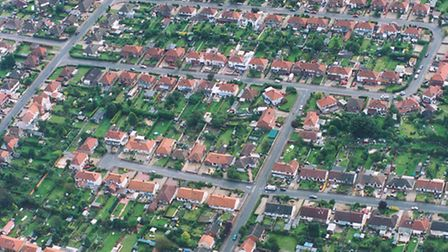 Aerial view of Sprowston.