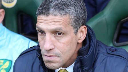 Chris Hughton is poised to face Norwich City for the first time since his departure when new club Br