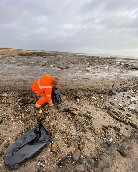 Members of Tendring District Council have been busy clearing reports of palm oil from its beaches.