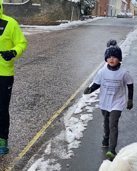 Harrison Deacon even went running in the snow
