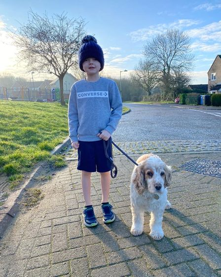 Harrison Deacon has persevered with his daily running in all weathers