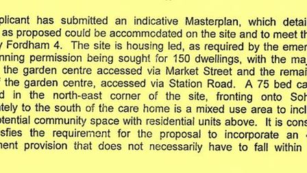 Officers at East Cambs first explained how the care home at Fordham would absorb employment requirements for the site.