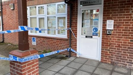 Old Palace Medical Centre in Old Palace Road in Norwich is closed after a car crashed into it.