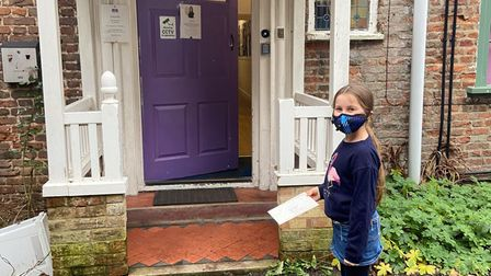King's Ely Junior pupil Willow delivered cheese jokes to Terrington Lodge Care Home in a bid to cheer up residents in lockdown.