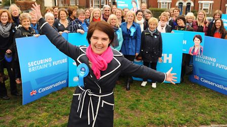 Conservative ladies descend on Norwich to support Chloe Smith's campaign. Picture: DENISE BRADLEY