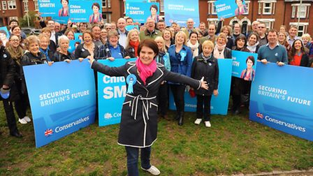 The Conservative support for Chloe Smith's campaign. Picture: DENISE BRADLEY