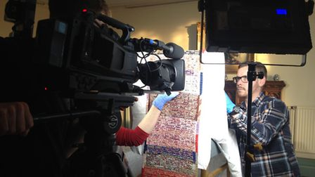 Filming of the letters for the new show. Picture: supplied