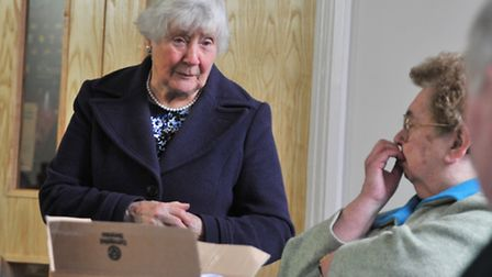Liberal Democrat campaigners welcome Baroness Shirley Williams to Norwich where she met activists an