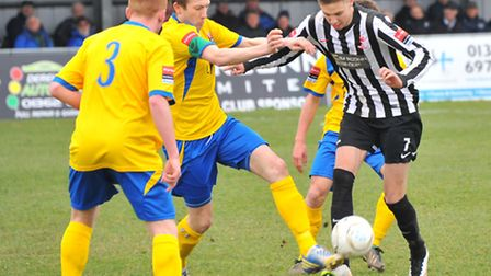 Ryan Hawkins, right, found the net for the Magpies at Needham. Picture: SIMON FINLAY