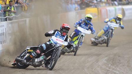 Tai Woffinden (front) - current holder and former world-title winner - will be in action tonight.