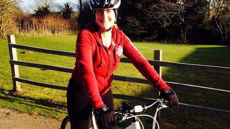 Alice Mitchell, 35, from Saxthorpe, who is doing a sponsored bike ride on May 30.