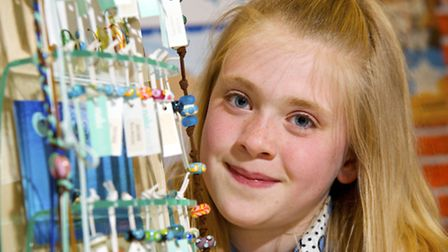 Juliet Price-Thomas of Cromer who won the competition to design a Nalu surf bead for Cromer. Picture