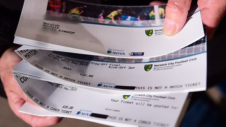 Fans have been snapping up Wembley tickets. This picture shows the vouchers for the Wembley tickets,