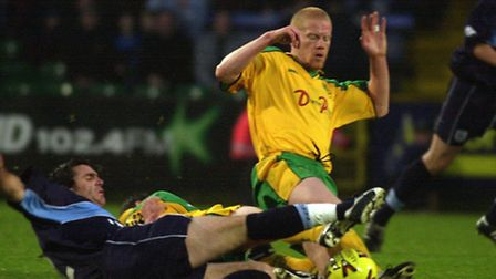 Gary Holt pictured during his playing days with Norwich City in a 2-0 win over Coventry in the 2001/