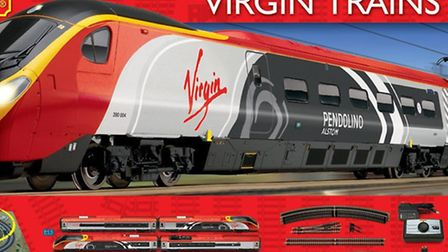 An image of the Hornby R1155 Virgin Trains Pendolino kit which was stolen from the Bure Valley Railw