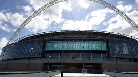 A general view of Wembley Stadium. Photo credit: Andrew Matthews/PA Wire.