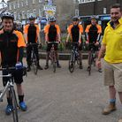 Members of Diss Young Farmers will be cycyling from Paris to Diss in June to raise money for Multipl