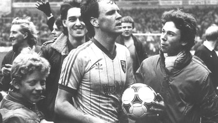 John Deehan during his playing days with Norwich City.