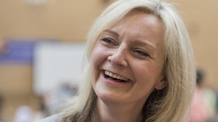 SW Norfolk Conservative candidate Elizabeth Truss is all smiles as she regains her seat. Picture: Ma