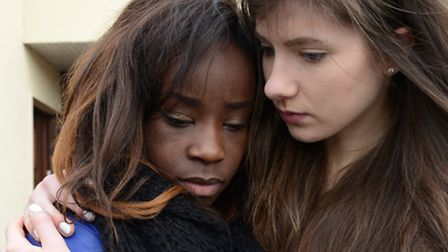 Mental health. Pictured: A woman consoled by her friend. Picture: Newscast Online