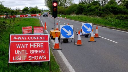 Motorists will experience roadworks at Trowse on Sunday.