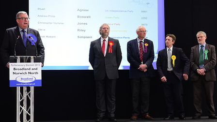 Keith Simpson MP wins the Broadland seat. Picture: Antony Kelly