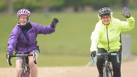 Action from the first day of Pedal Norfolk on the Holkham Estate. Picture: Ian Burt