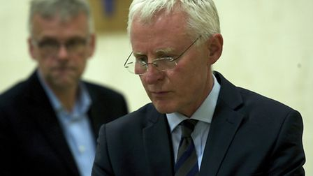 Norman Lamb (Lib Dem) at the Norfolk North Parliamentary Constituency General Election 2015 count at