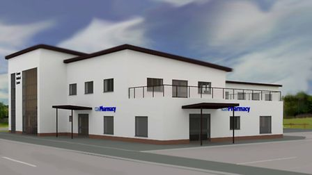 An image showing what the planned new Cromer doctors surgery at Cabbell Park will look like. Picture