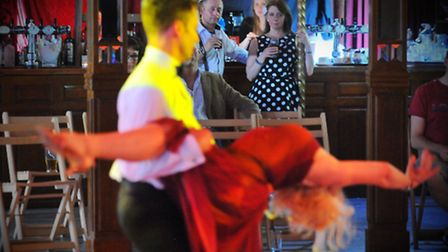 Norfolk and Norwich Festival 2014. Taking to the dance floor in the Spiegeltent for the Ragroof Tea