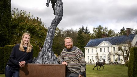 An Animal Art fair is holding its spring exhibition within Stody Lodge's grounds - From left, Kate M