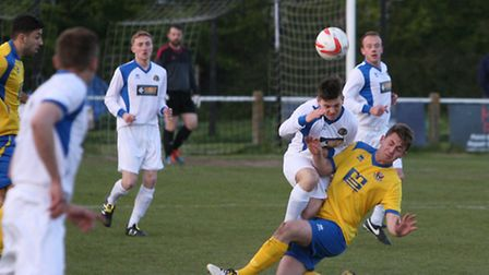 Great Yarmouth Town (in white) playing AFC Sudbury Res. Squad, in the Thurlow Nunn Div one cup match