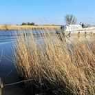Spring weather on the Norfolk Broads.A boat on the River Bure at Upton.April 2015.Picture: James Bas