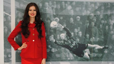 Miss England Carina Tyrell at Carrow Road earlier this year.