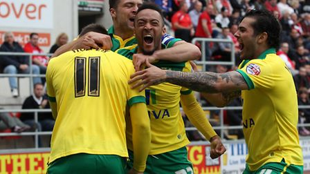 Norwich City midfielder Nathan Redmond is top of the pile for assists after his brace in the 4-2 Cha
