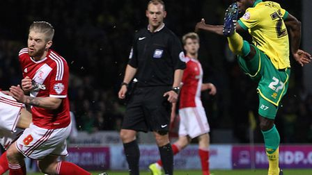Alex Neil will take no risks with the fitness of Norwich City Alex Tettey. Picture by Paul Chesterto