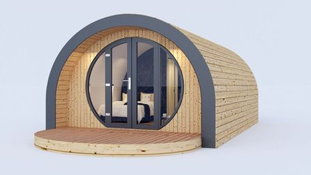 An artist's impression of the new glamping pods. Image: Courtesy Luke Paterson