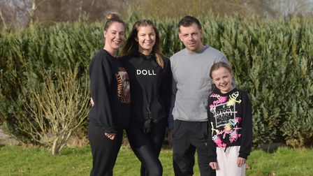 FearnSwain and her family are cycling 100 miles between them in the Jdrf 100 challenge to raise mon